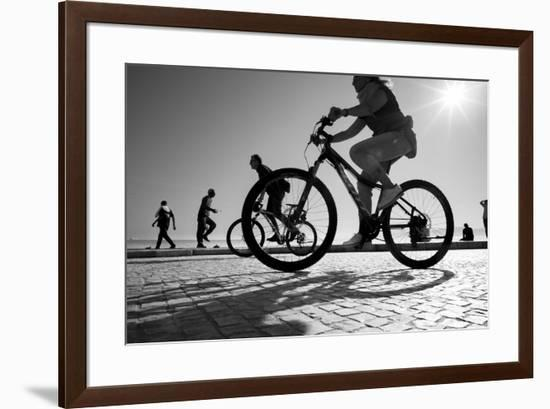 Bike on Lisbon-Moises Levy-Framed Giclee Print