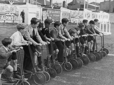 Bike Races--Photographic Print