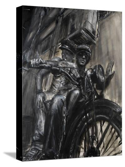 Bikers-Paolo Ottone-Stretched Canvas Print