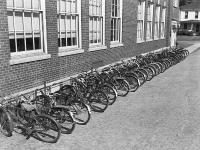 Bikes on Bike Rack-Philip Gendreau-Photographic Print