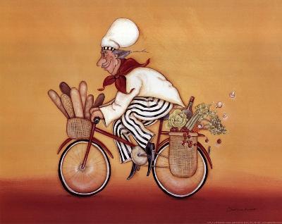 Biking Chef-Stephanie Marrott-Art Print