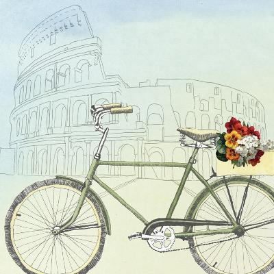 Biking Through Rome-Naomi McCavitt-Art Print
