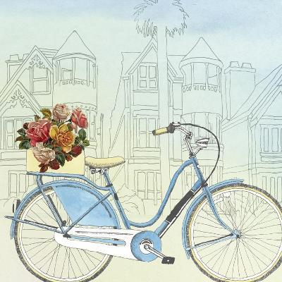 Biking Through San Francisco-Naomi McCavitt-Art Print