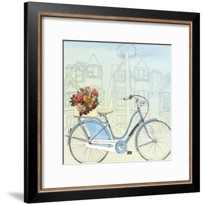 Biking Through San Francisco-Naomi McCavitt-Framed Art Print
