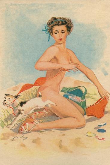 Bikini Mishap--Giclee Print