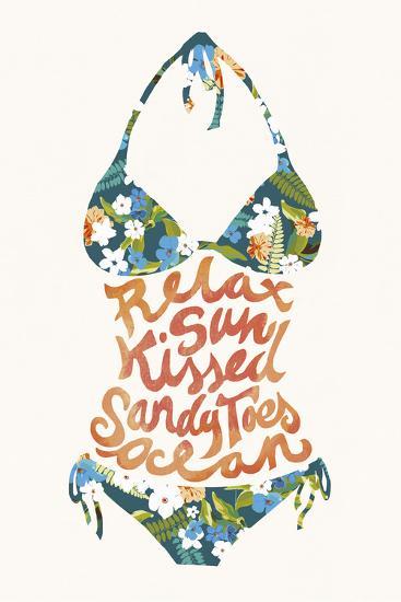 Bikini Tropical-Joni Whyte-Giclee Print