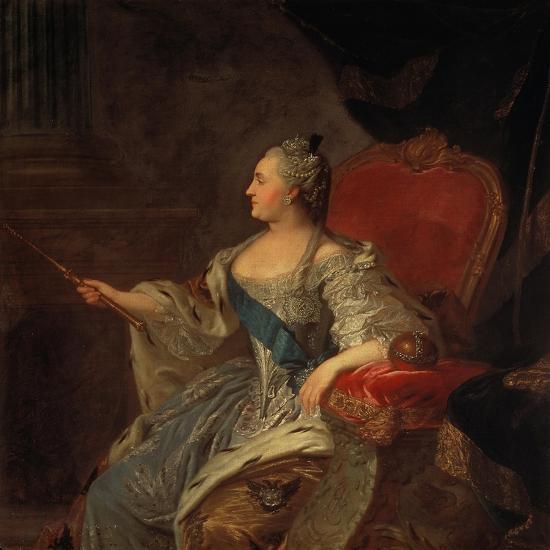 Bildnis Der Zarin Katharina Ii, 1763-Fjodor Rokotov-Giclee Print