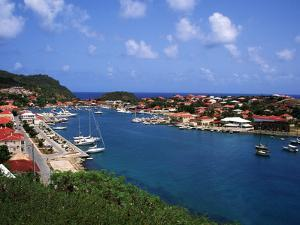 Aerial View of Gustavia Port, St. Barts, FWI by Bill Bachmann