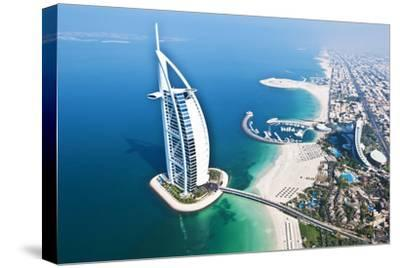 Aerial View of the Burj Al Arab, Dubai, United Arab Emirates