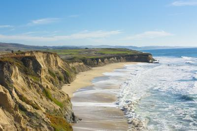 Beach cliffs of Half Moon Bay, California