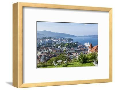 Beautiful Overlook of the City of Bergen, Norway