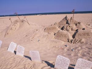 Boardwalk Beach Sand of Christ, Ocean City, Maryland, USA by Bill Bachmann