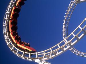 Boardwalk Roller Coaster, Ocean City, Maryland, USA by Bill Bachmann