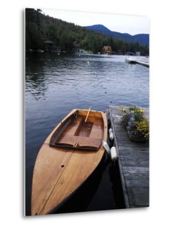 Boating at Whiteface Marina in the Adirondack Mountains, Lake Placid, New York, USA