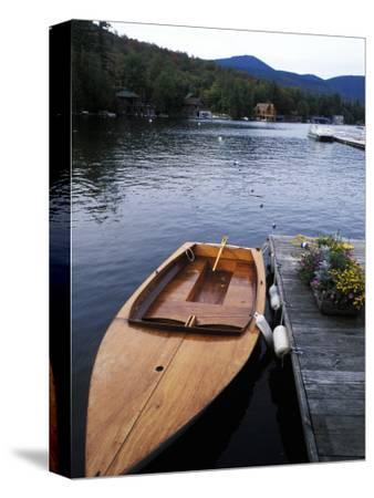 Boating at Whiteface Marina in the Adirondack Mountains, Lake Placid, New York, USA