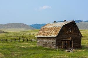 Butte, Montana Old Worn Barn in Farm County by Bill Bachmann
