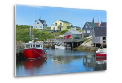 Canada, Peggy's Cove, Nova Scotia, Peaceful and Quiet Famous Harbor with Boats and Homes in Summer