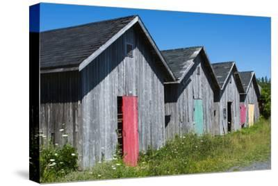 Canada, Prince Edward Island, Prim Point Graphic Beauty of Stacked Lobster Fish Houses