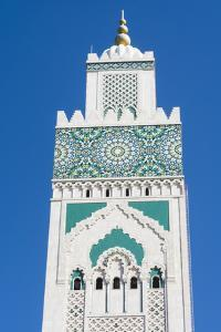 Casablanca, Morocco, Exterior Steeple Famous Hassan II Mosque by Bill Bachmann