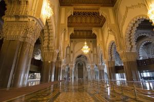 Casablanca, Morocco Interior Famous Hassan II Mosque by Bill Bachmann
