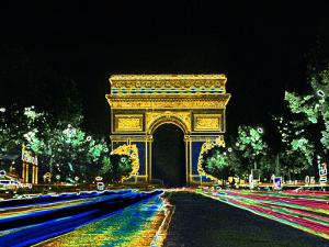 Champs Elysees and Arc de Triomphe, Paris, France by Bill Bachmann