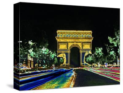 Champs Elysees and Arc de Triomphe, Paris, France