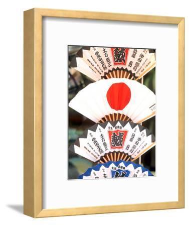 Colorful Artwork on Fans, Kyoto, Japan