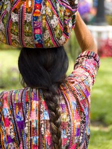 Colorful Patterned Clothes, Solola, Guatemala by Bill Bachmann