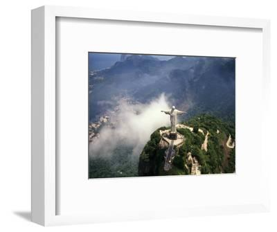 Corcovado Christ Statue on Mountain, Rio de Janeiro Peak, Brazil