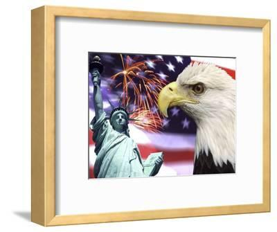 Eagle, Fireworks, Statue of Liberty
