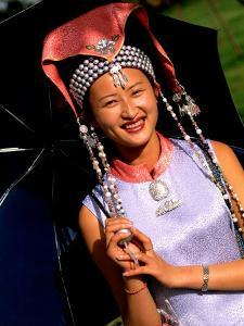Ethnic Dancer in Traditional Costume in Kumming, Yunnan, China by Bill Bachmann