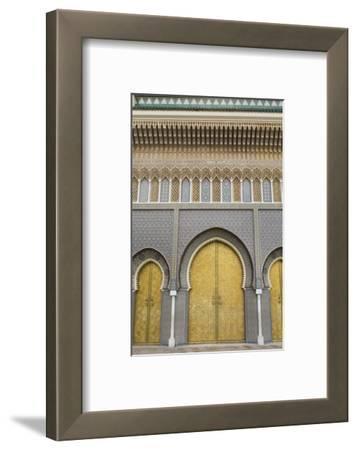 Fez, Morocco Royal Palace Famous Golden Doors Arches Der El Makhzen