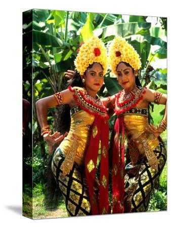 Golden Dancers in Traditional Dress, Bali, Indonesia
