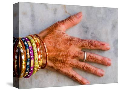 Henna Design on Woman's Hands, Delhi, India
