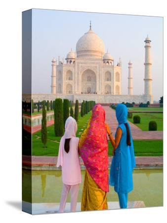Hindu Women with Veils in the Taj Mahal, Agra, India