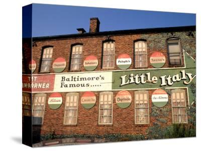 Historic Little Italy Section Signage, Baltimore, Maryland, USA