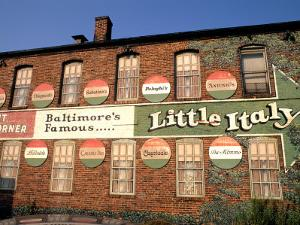 Historic Little Italy Section Signage, Baltimore, Maryland, USA by Bill Bachmann