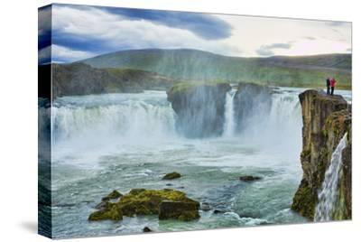 Iceland. Godafoss Waterfall in North Central Iceland. on Ring Road