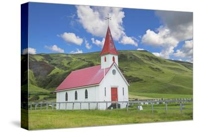 Iceland. Reyniskirkja Church Near Black Beach , 1929 an Old Wooden Church Religion