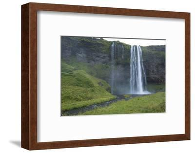 Iceland. Seljalandsfoss Waterfalls Famous Waterfall in South Iceland