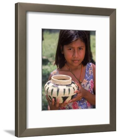 Local Girl with Pottery, Panama