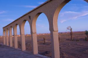 Morocco Sahara Desert Sunset Color on Arches las Palmeras Area by Bill Bachmann