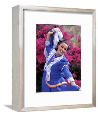 Native Dancer in Colored Dress with Flowers, Mexico