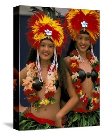 Native Dancers, Huahine, Tahiti, French Polynesia, Oceania