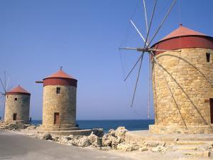 Old Windmills of Rhodes, Greece by Bill Bachmann