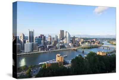 Pittsburgh, Pennsylvania, Downtown City and Rivers at Golden Triangle