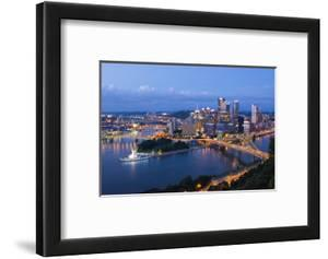 Pittsburgh, Pennsylvania, Skyline from Mt Washington of Downtown City by Bill Bachmann