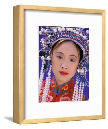 Portrait of Chinese Woman Wearing Ming Dynasty Dress, China