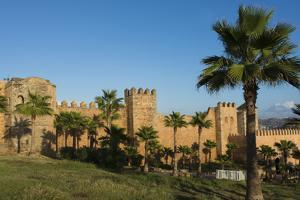 Rabat Morocco Beautiful Kasbah Udaya at Sunset with Palm Trees by Bill Bachmann