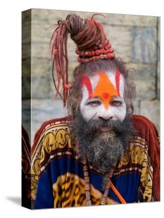 Religious Man at Pashupatinath Holy Hindu Place on Bagmati River, Kathmandu, Nepal